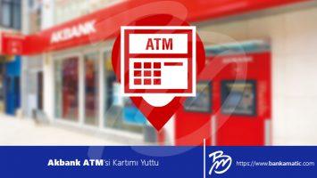 Akbank ATM'si Kartımı Yuttu
