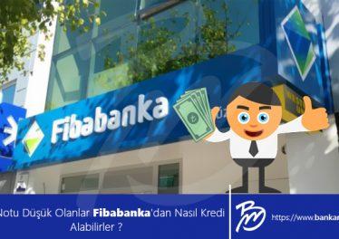 Kredi Notu Düşük Olanlar Fibabanka'dan Nasıl Kredi Alabilirler ?